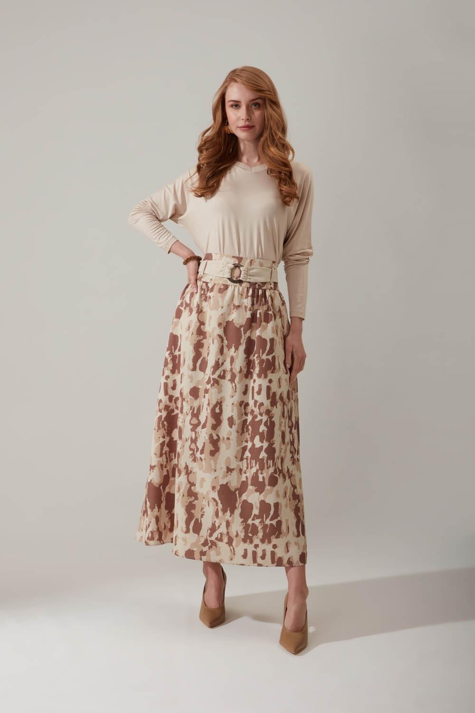 Batik Desenli Bej Etek