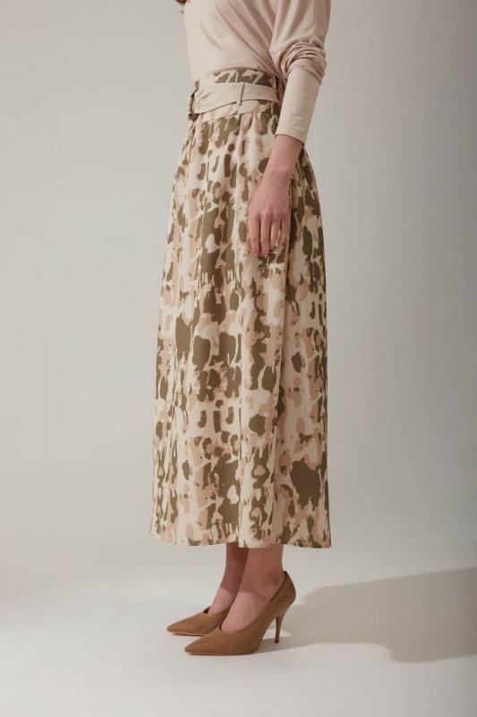 Batik Desenli Haki Etek