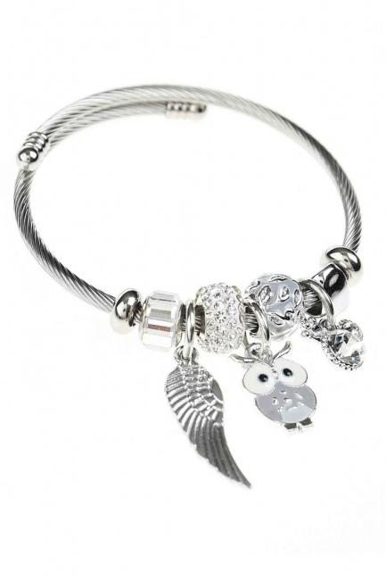 MIZALLE - Owl Detailed Bracelet (Lilac) (1)