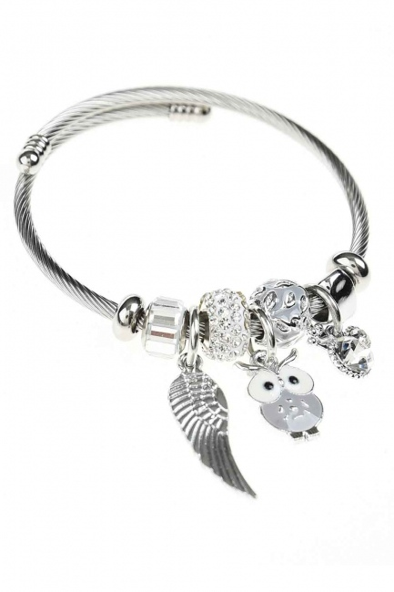 MIZALLE HOME - Owl Detailed Bracelet (Lilac) (1)