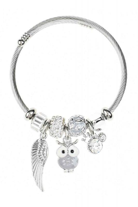 Owl Detailed Bracelet (Lilac)