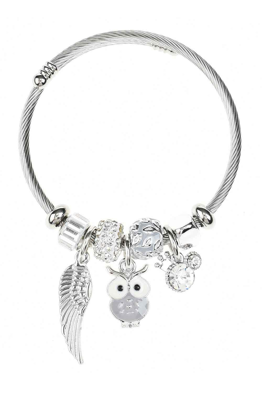 MIZALLE Owl Bracelet (Lilac) (1)