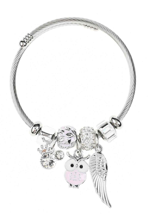 MIZALLE Owl Bracelet (Pink) (1)