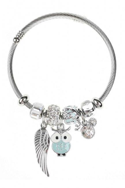 MIZALLE Owl Shaped Bracelet (Green)