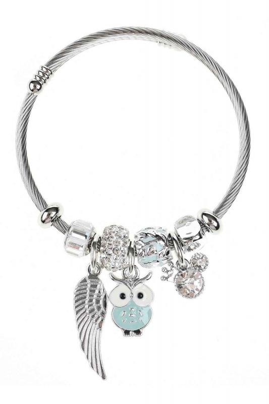 Owl Shaped Bracelet (Green)
