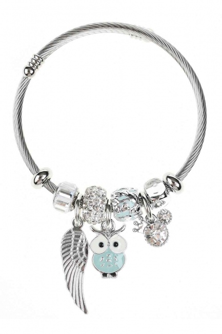 MIZALLE HOME Owl Shaped Bracelet (Green)