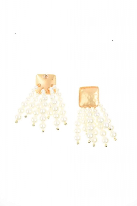 Bead Detailed Earring (Ecru)