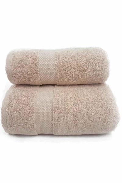 MIZALLE منشفة حمام القطن (85X150) (بيج)
