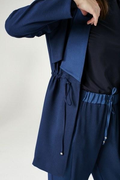 Waist Lace-Up Jacket (Indigo) - Thumbnail