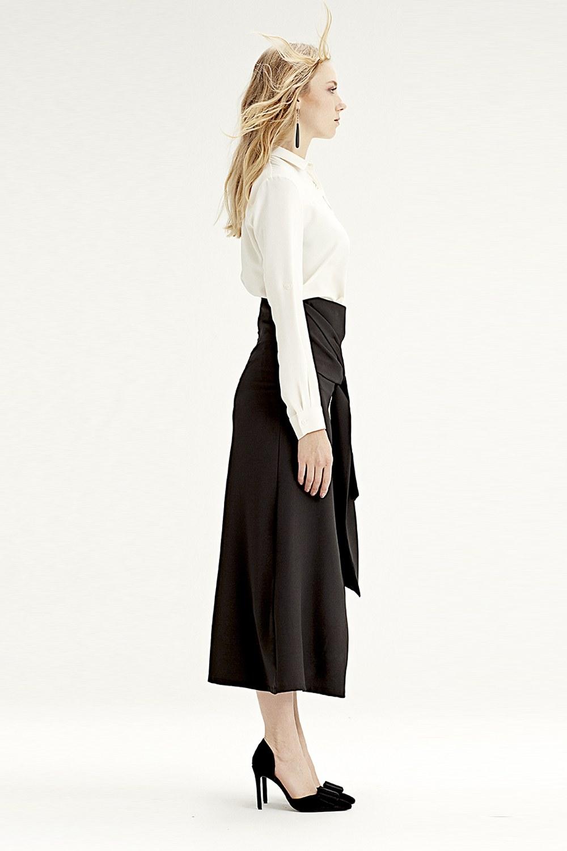 MIZALLE Waistbelt Skirt (Black) (1)