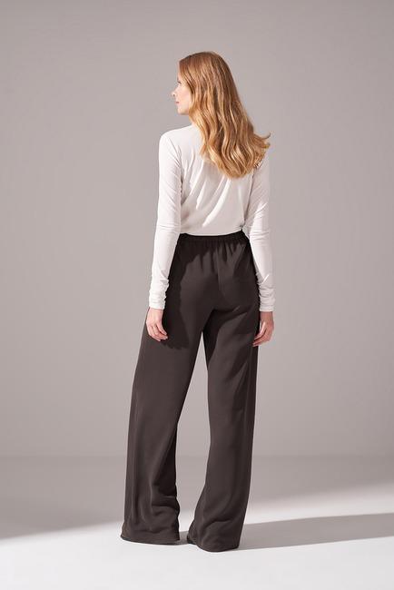 Beli İp Bağlamalı Pantolon (Haki) - Thumbnail