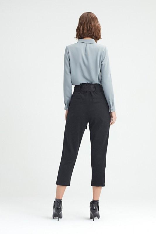 Beli Kuşaklı Pantolon (Siyah)