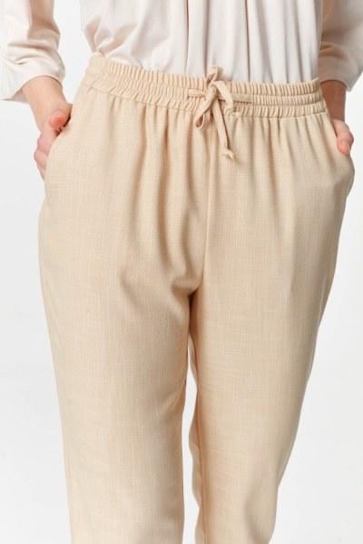 MIZALLE - Pockets Detailed Elastic Waist Pants (Beige) (1)