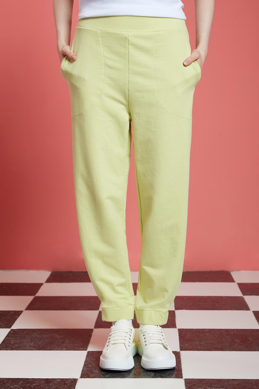 Basic Beli Lastikli Jogger Pantolon (Açık Yeşil)