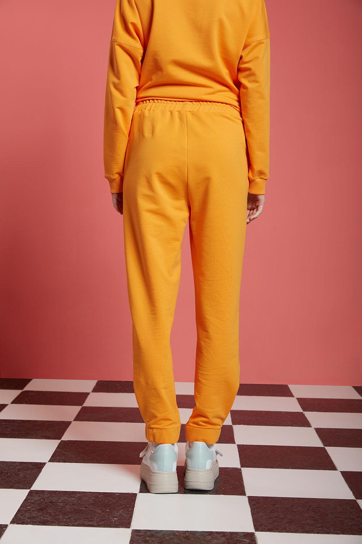 Basic Beli Lastikli Jogger Pantolon (Mango)