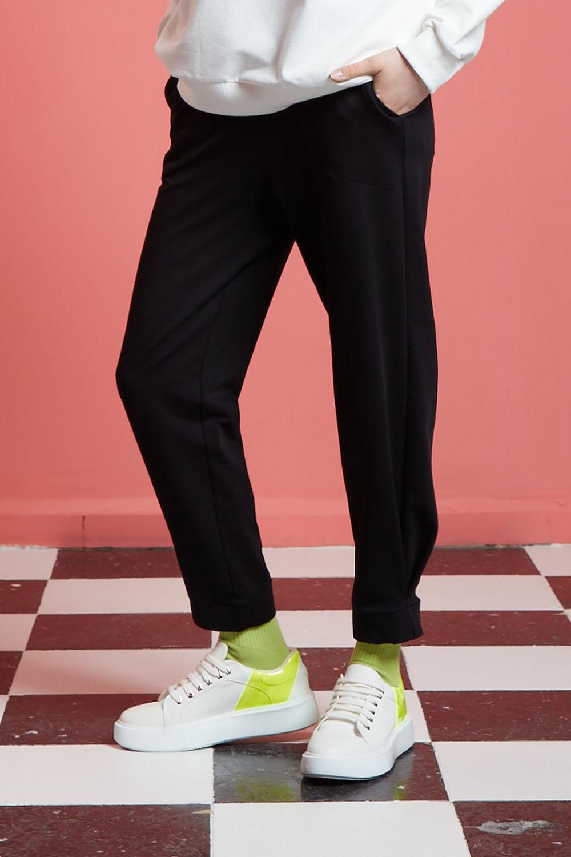 Basic Beli Lastikli Jogger Pantolon (Siyah)