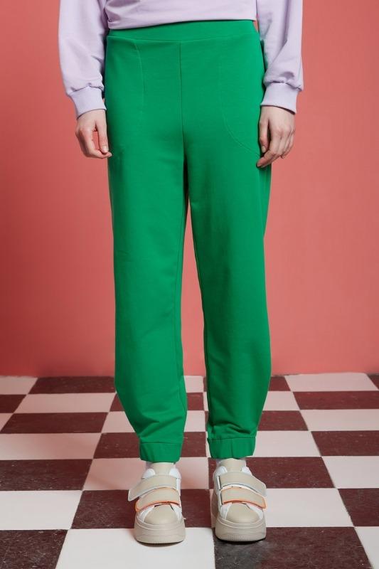 Basic Beli Lastikli Jogger Pantolon (Yeşil)
