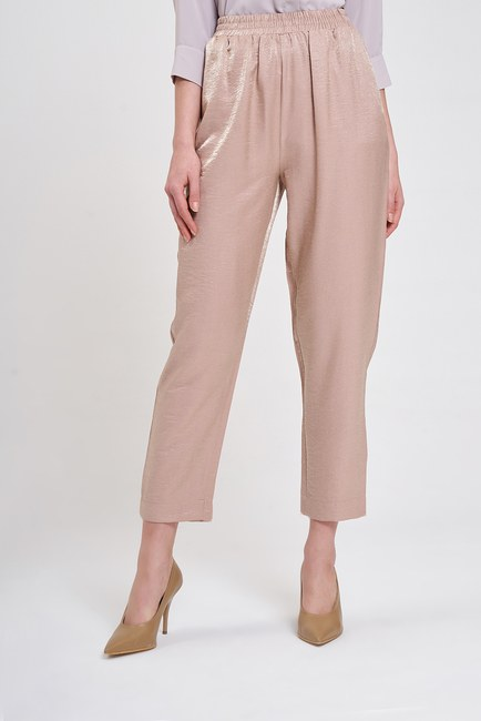 Beli Pileli Pantolon (Pudra) - Thumbnail