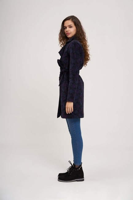 MIZALLE YOUTH - Belted Trench Coat (Purple) (1)