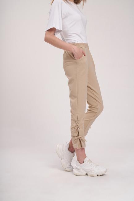 Mizalle - Bird Eye Trousers (Beige) (1)