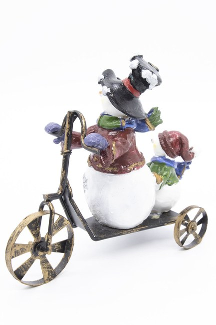 MIZALLE HOME - Biking Snowman Trinket (1)