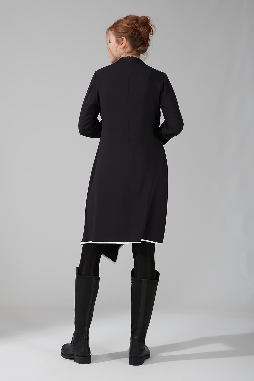 Biye Detaylı Tunik Elbise (Lacivert)