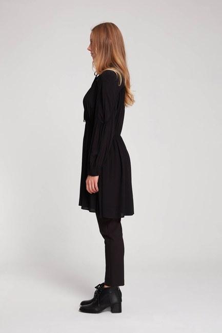 MIZALLE - Biyeli Bluz (Siyah) (1)
