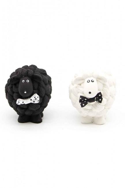 Black and White Lamb Trinket - Thumbnail