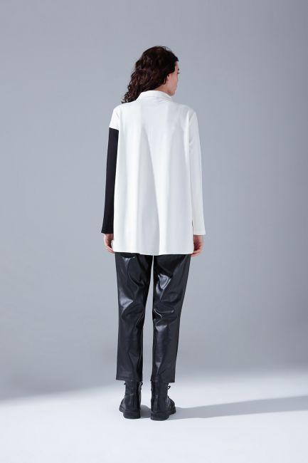 Blok Parçalı Gömlek (Beyaz) - Thumbnail