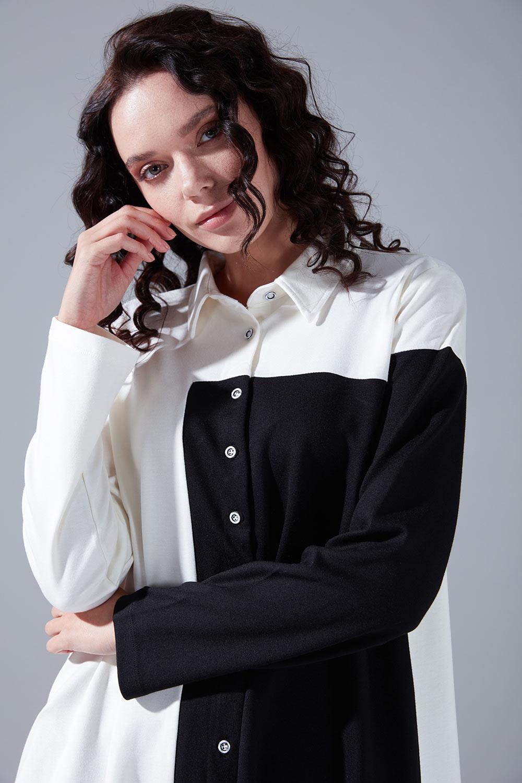 Blok Parçalı Gömlek (Beyaz)