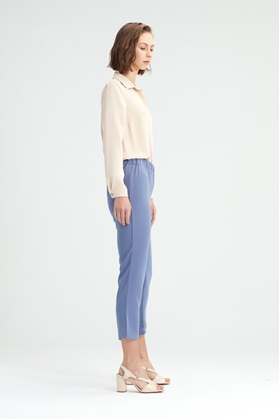 Blue Skinny Trousers (Blue) - Thumbnail