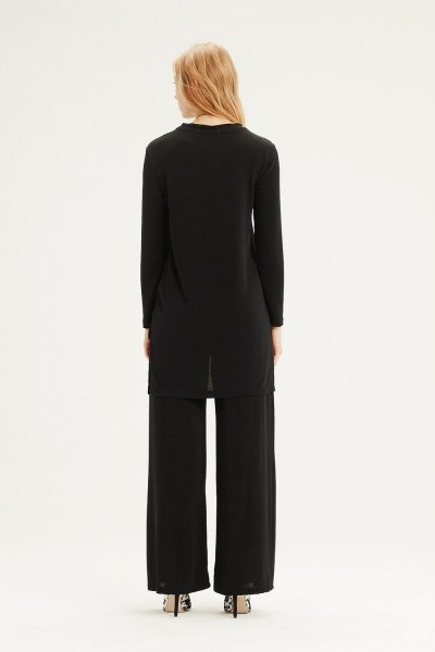 Plenty Leg Trousers (Black) - Thumbnail