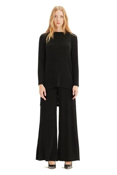 Bol Paça Pantolon (Siyah) - Thumbnail