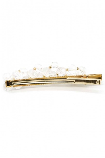 MIZALLE - Beaded Hair Clips (White) (1)