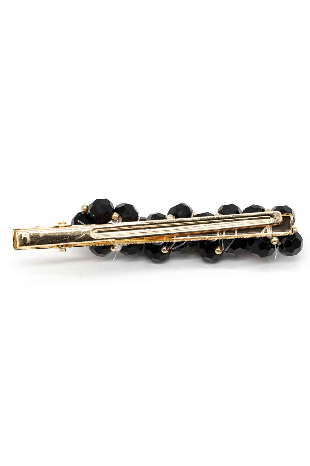 MIZALLE Beaded Hair Clips (Black) (1)