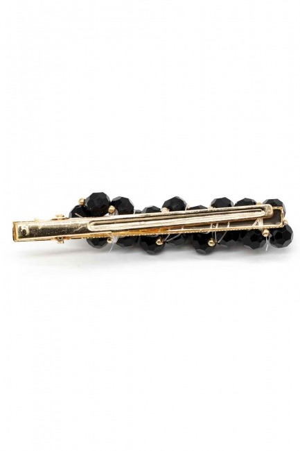 MIZALLE - Beaded Hair Clips (Black) (1)