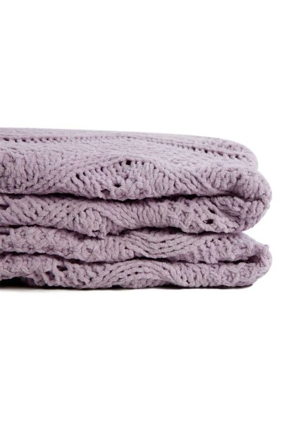 MIZALLE HOME - Braided Lilac Seat Shawl (130X170) (1)