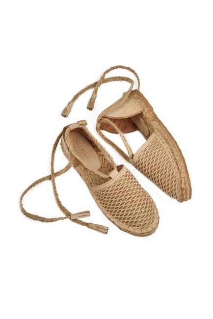MIZALLE - Braided Nubuck Shoes (Beige) (1)
