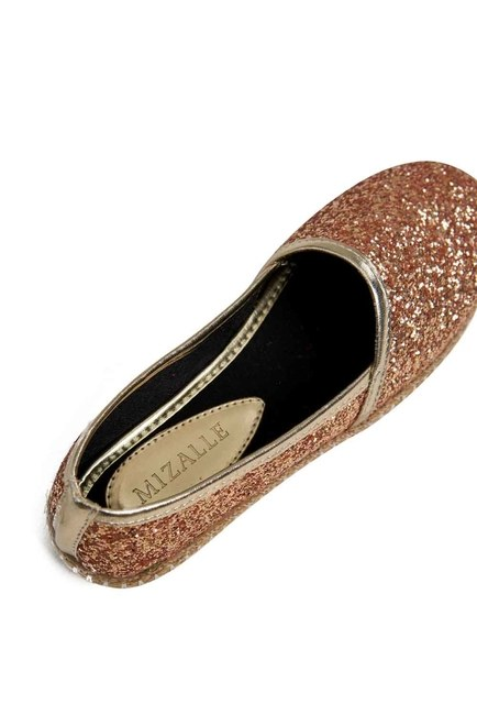 MIZALLE - Bright Textured Espadrille (Gold) (1)