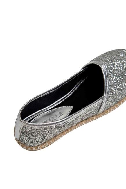 Bright Textured Espadrille (Silver) - Thumbnail