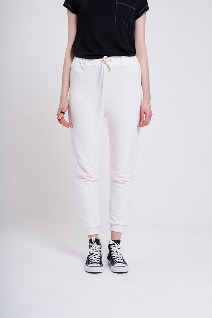 MIZALLE YOUTH - Brode Garnished Trousers (Ecru) (1)