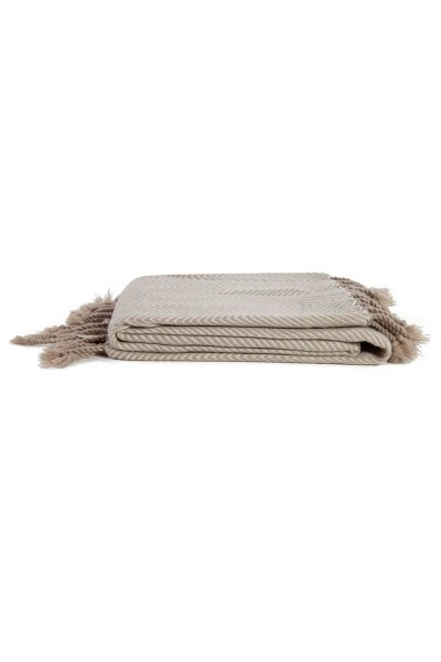 MIZALLE HOME مقعد شال بني (130x170)