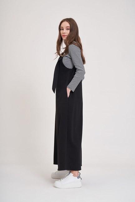MIZALLE YOUTH - Buckle Gilet Dress (Black) (1)