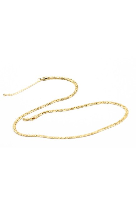 MIZALLE - Twisted Detail Chain Necklace (Yellow) (1)