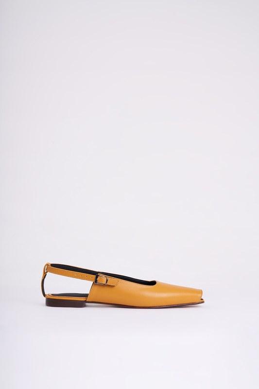 Burnu Açık Ayakkabı (Hardal)