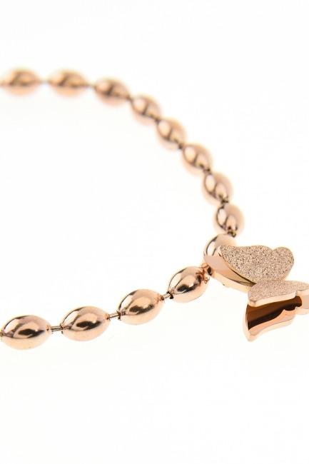 Butterfly Shaped Beaded Bracelet - Thumbnail