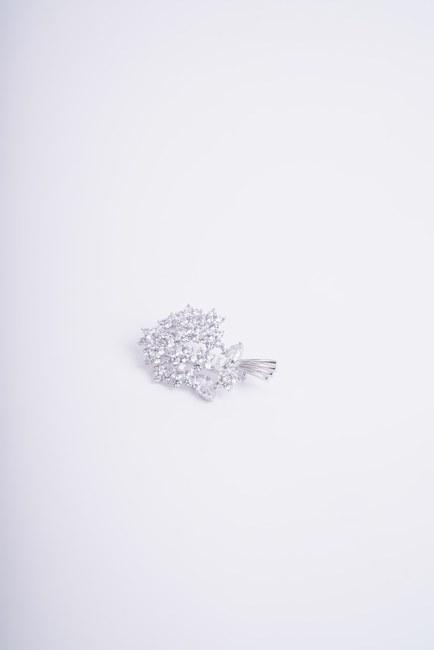 MIZALLE - Büyük Buket Broş (Gri) (1)