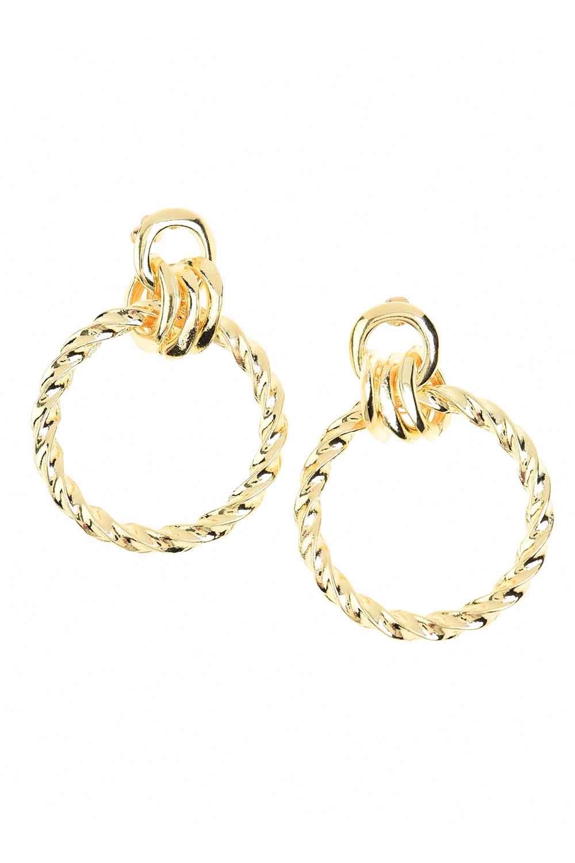 MIZALLE Big Auger Earrings (St) (1)