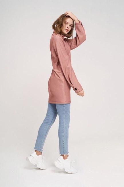 Big Buttoned Sweatshirt (Rose) - Thumbnail