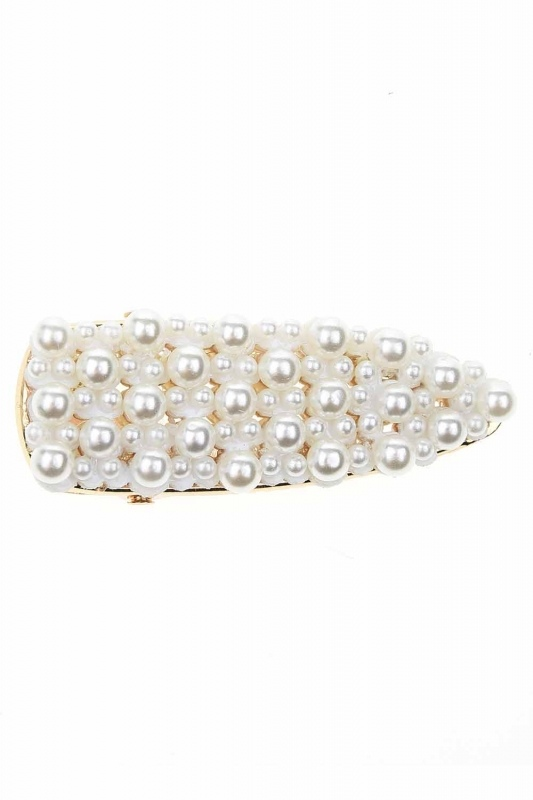 Pearl Detailed Stony Hair Clips (St)